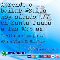 Aprende a Bailar #Salsa Hoy sábado 9/7 en Santa Paula 10:15am Invita un amigo al #SanoVicioDeBailar #Rumbacana #BailaParaDivertirte