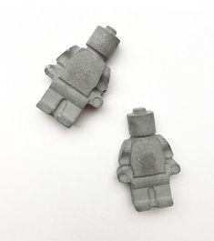 Concrete LEGO men magnet pair - TWO | Cement | Cute | fridge magnet | industrial decor #homedecor #concrete #magnets #legomen Cement, Concrete, Lego Man, Decoration, Magnets, Pairs, Handmade, Etsy, Boards