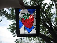 I'm thinking of trying this craft out again to decorate the kids' window. Stained glass craft. The first time went well...the strawberry is still in my kitchen window.