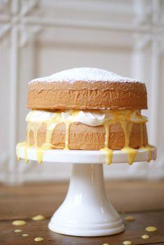 Vanilla Sponge Cake with Passionfruit Curd | Simmer & Boyle