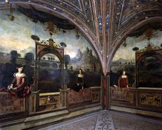 Moretto da Brescia (Alessandro Bonvicino called il Moretto; Brescia 1498 - 1554); Saletta delle nobili dame (Hall of the noble ladies), 1543, fresco; Palazzo Martinengo, Brescia