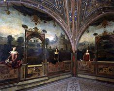 Moretto da Brescia (Alessandro Bonvicino called il Moretto; Brescia 1498 - 1554); Saletta delle nobili dame (Hall of the noble ladies), 1543, fresco; Palazzo Martinengo, Brescia
