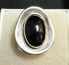 Signed Vintage Mexican Sterling Silver Modernist Ring by Xulha, $59.99