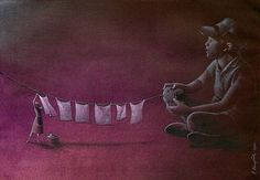 Thought Provoking Paintings By Pawel Kuczynski 34  Your parents work hard for you to get what you want..