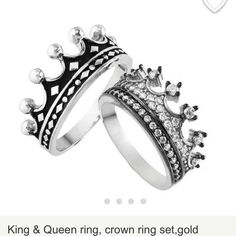his and hers crown rings