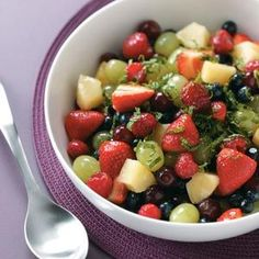 Pina Colada Fruit Salad ~ Pinner said: I made this for a ton of company last weekend and it was a hit!!! The can of Pina Colada concentrate makes it amazing!
