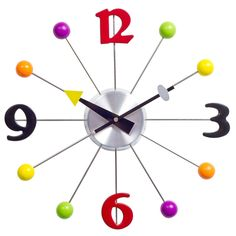 Love this clock for the kids' playroom