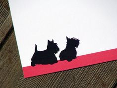 Scottish Terriers Personalized Stationery  by fiona designs