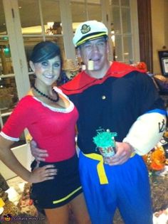 Olive Oyl and Popeye Costume - 2014 Halloween Costume Contest via @costume_works