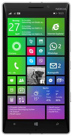 Lumia 930 start screen with apps Cal (calendar), Blue Skies (weather) Internet Explorer, Start Screen, Tv App, Windows Phone, Blue Skies, Calendar, Apps, Weather, 27th Birthday