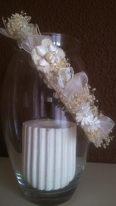corona comunion ,arras beige de Errederosa complementos por DaWanda.com