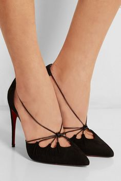 Christian Louboutin | Salopatina 100 patent leather-trimmed ...