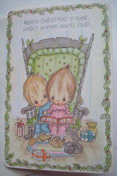 Betsey Clark unused 1973 Hallmark CHRISTMAS VINTAGE GREETING CARD *D2