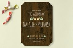 In the Park Wedding Invitations by Amanda Larsen Design at minted.com