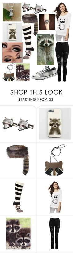 """""""Raccoon"""" by peridot11871 ❤ liked on Polyvore featuring Overland Sheepskin Co., John Lewis, New York & Company, Dorothy Perkins and Converse"""
