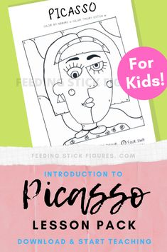 JUST WHAT I NEED to begin Picasso art projects for my young art students. This is great because it comes with a clear and informative presentation and fun worksheets they can do after and before they get started making Picasso inspired artwork! Art Projects For Teens, Easy Art Projects, Art Activities For Kids, School Art Projects, Art For Kids, History Projects, Art History, Project Ideas, Picasso Kids