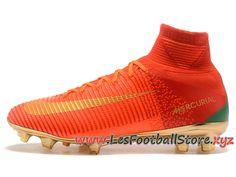best authentic 5ba6c f490b Nike Mercurial Superfly V CR7 FG Chaussure de Football Pas Cher Pour Homme  Rouge Or-