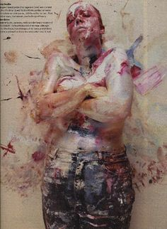 Jenny Saville by Nigel Parry for the Sunday Times magazine
