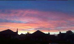 Sunset in Edinburgh.