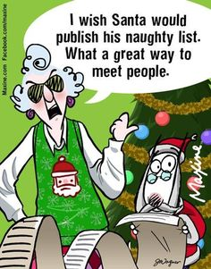 Maxine on Santa's Naughty List