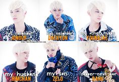 How they look in a bolnd hair? ;) I like Jongup and Daehyun ^^