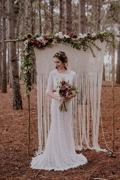 boho wedding vision | Woodlands Elopement Inspiration by Lad & Lass Photography | SouthBound Bride
