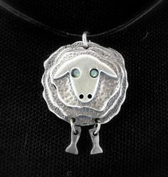 Sterling Silver Sheep by NetaGilboa; dimension created by pieces saw-cut and sweat-soldered together.