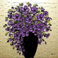Floral impasto still life
