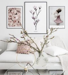 Gallery wall pink flowers black metal frames - Wall art with beautiful posters and art prints - Find inspiration for your personal wall art with posters & art prints from Posterstore.se Spice up your living room or bedroom. Window Poster, Poster Wall, Poster Poster, Photo Fleur Rose, Inspiration Wand, Poster Shop, Scandi Home, Kunst Poster, Wall Decor