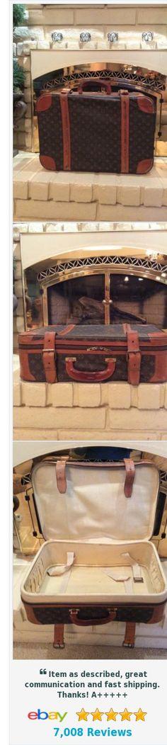 """Vintage Louis Vuitton LV Monogram 23"""" Coated Canvas Luggage Suitcase http://www.ebay.com/itm/Vintage-Louis-Vuitton-LV-Monogram-23-Coated-Canvas-Luggage-Suitcase-/222563274446?hash=item33d1ce0ece"""