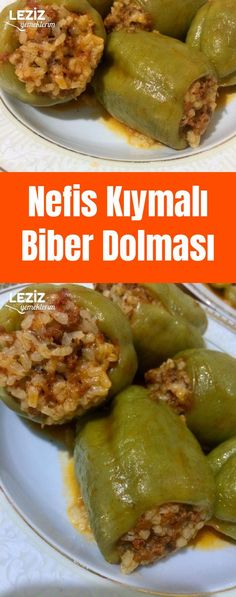 Stuffed Pepper Stuffed - Jewelry World Turkish Recipes, Casual Chic Style, Meat Recipes, Tasty, Stuffed Peppers, Chicken, Cooking, Ground Meat, Yummy Food