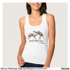 African Wild Dogs Tank Top Women