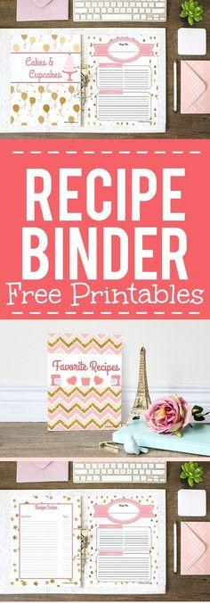How to Make a Recipe Binder with Free DIY Recipe Binder Printables…