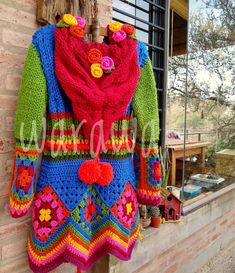 Crochet Jacket Pattern, Crochet Coaster Pattern, Crochet Coat, Crochet Winter, Sweater Knitting Patterns, Crochet Cardigan, Crochet Clothes, Hippie Crochet, Freeform Crochet