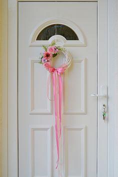 ružový veniec na dvere - typ 1