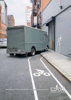 Avoiding a crash comes down to one simple action, LOOK. NYC Bike safety campaign