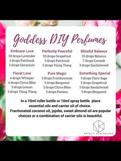 Essential Oil Perfume, Essential Oil Uses, Doterra Essential Oils, Perfume Oils, Homemade Perfume, Perfume Recipes, Essential Oil Diffuser Blends, Soaps, Roller Bottle Recipes