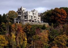 """Gillette Castle    East Haddam, Conn.    William Gillette's castle may have only 24 rooms, but it's chock full of oddities and mysteries cooked up by Gillette himself: a movable table on tracks, a surveillance system using hidden mirrors, and the home's 47 doors, no two of which are alike. Gillette left no heirs, but stipulated in his will that his estate not fall into the hands of a """"blithering sap-head who has no conception of where he is or with what surrounded."""""""