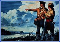 Explorers Lewis and Clark, brave, handsome men who's historic expedition charted the waterways of the west!