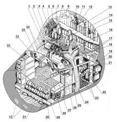 Saturv V S1C stage cutaway Aerospace cutaways and