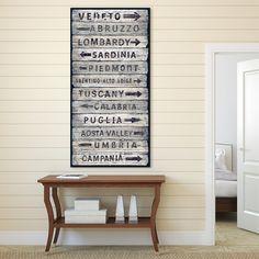 Portfolio Canvas Decor 'Italian Wine Regions II' Vintage Sign Canvas Wall Art