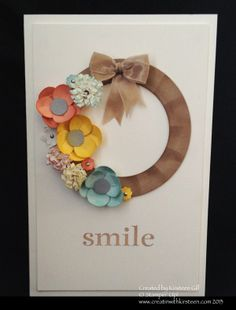 Stampin' Up! - Scrapbooking and Design Software - Tools - Kits aw, she shrunk the wreath kit into a card:)