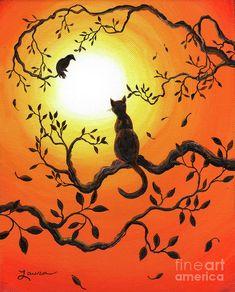 Halloween Sunset Painting  - Halloween Sunset Fine Art Print