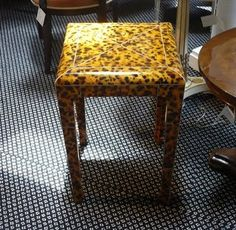 Love this Faux Tortoise end table - Yes Please