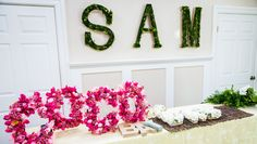 DIY Floral Name Letters from @kennethwingard! Tune in to #homeandfamily weekdays at 10/9c on Hallmark Channel!
