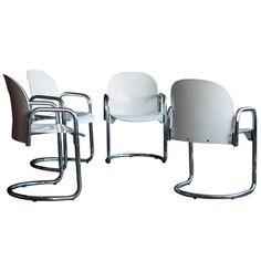 1stdibs   Set of 4 Dialogo armchairs designed by Afra & Tobia Scarpa for B Italia.