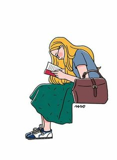 Reading time Line Illustration, Character Illustration, People Illustration, Graham, Colorful Drawings, Kinder Art, Graphic Art, Design Art, Illustrations Posters