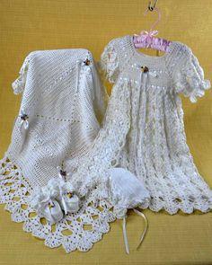 Maggie's Crochet · Blessed Christening Set Crochet Pattern