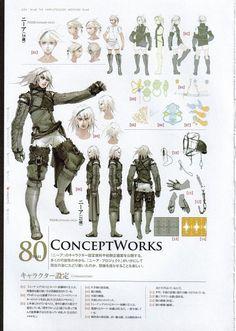 Square Enix, Nier, Nier (Character), Character Sheet