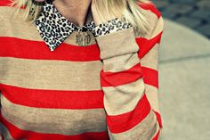 Pop! of Style leopard classic and stripes